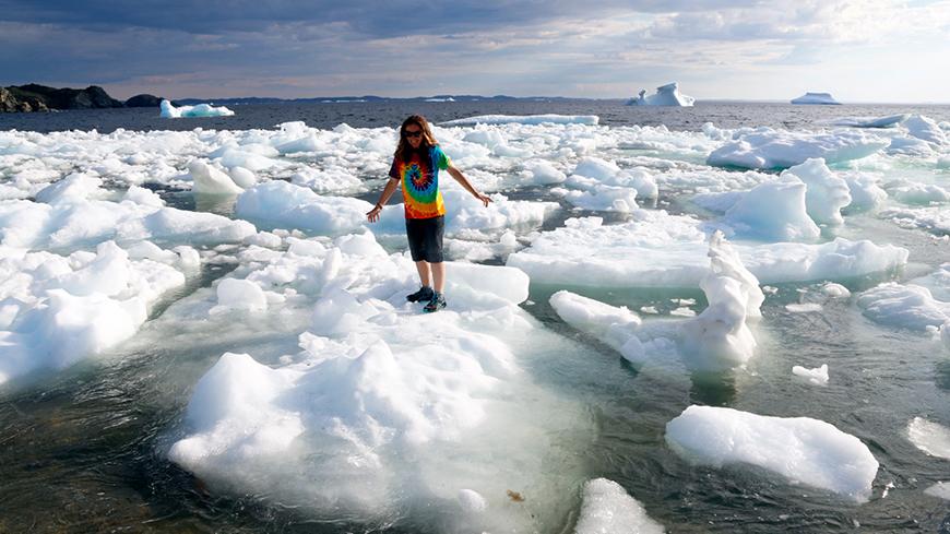 Eis im Meer mit Doris