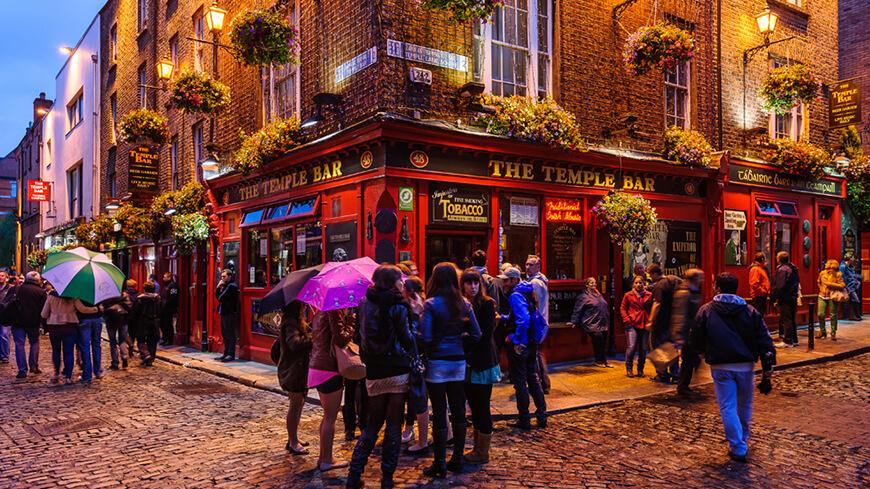 Pub Temple Bar in Dublin
