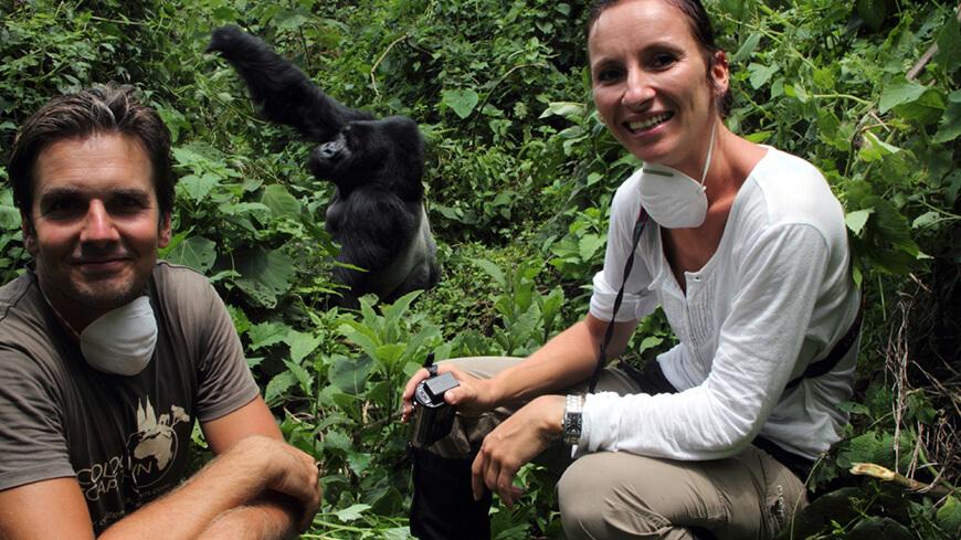 Gorilla in Afrika mit Lena und Tobias